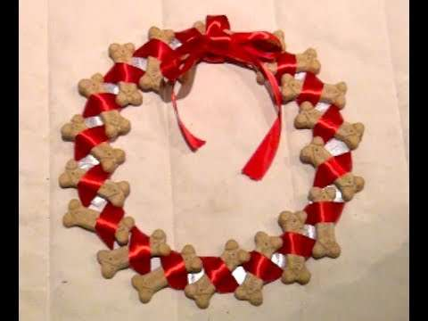 DIY Dog Cookie Wreath for Christmas