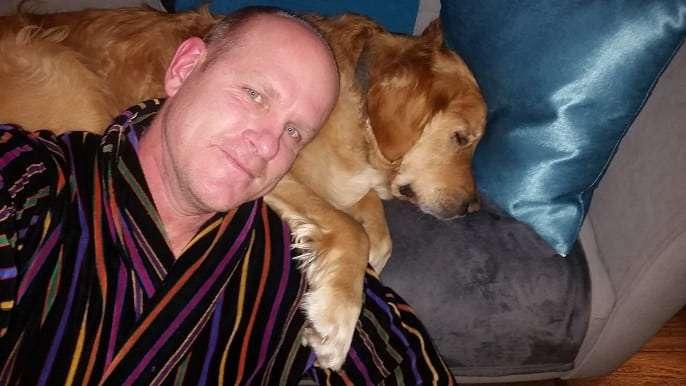 dog sitting bromance