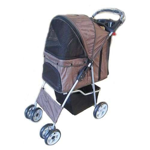FoxHunter New Brwon Dog Puppy Stroller