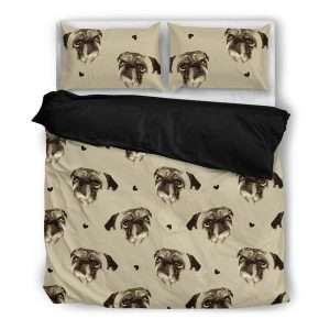 Pug love duvet cover set with pillows