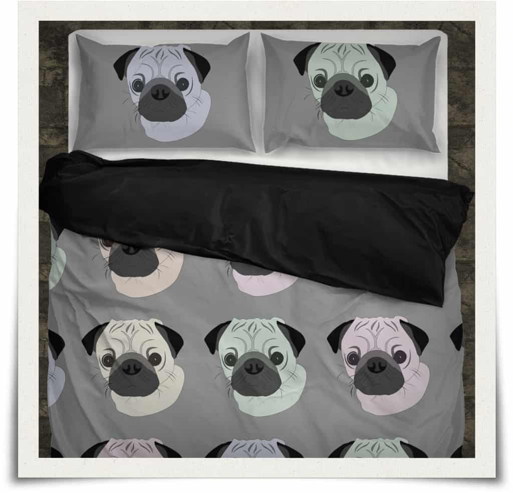 Pop Art Pug Duvet Set