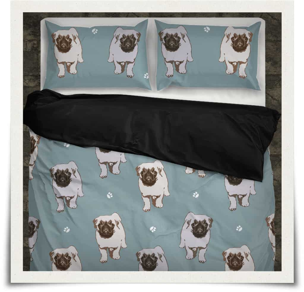 Pug Bedding Sets Pug Duvet Covers Amp Pillows Double